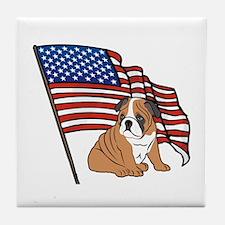 USA Bulldog Tile Coaster