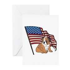 USA Bulldog Greeting Cards (Pk of 10)