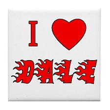 I Love Dale Tile Coaster