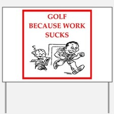 golf Yard Sign