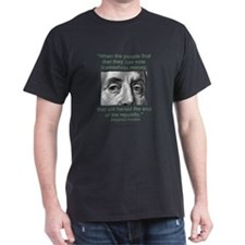 Ben Franklin Money Quote T-Shirt