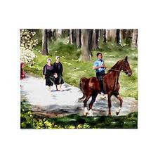 Amish Boy and Girls Throw Blanket