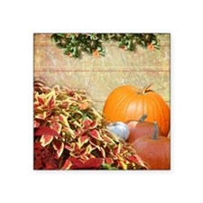 """Fall Colors and Leaves Square Sticker 3"""" x 3"""""""