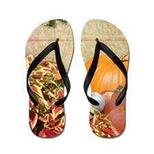Fall Colors and Leaves Flip Flops