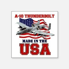 "A-10 Thunderbolt Square Sticker 3"" x 3"""