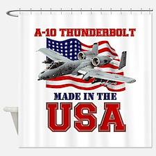 A-10 Thunderbolt Shower Curtain