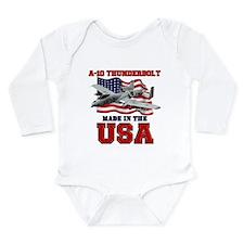 A-10 Thunderbolt Long Sleeve Infant Bodysuit