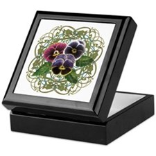 purple pansy bouquet Keepsake Box