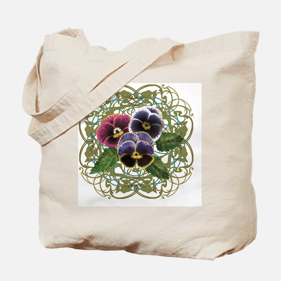 purple pansy bouquet Tote Bag