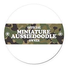 Unique Aussiedoodle Round Car Magnet