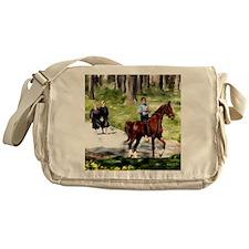 Amish Boy and Girls Messenger Bag