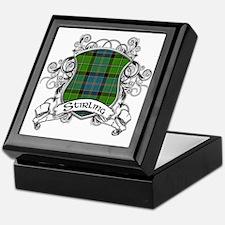 Stirling Tartan Shield Keepsake Box