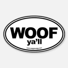 WOOF Yall Black Decal