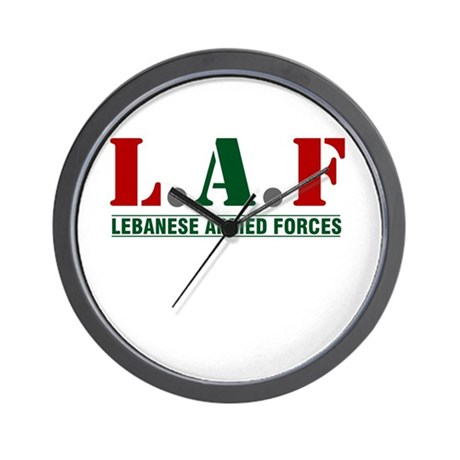 Lebanese Armed Forces Wall Clock