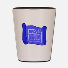 Blueprint Shot Glass