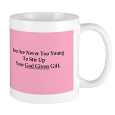 God Given Gift Young Pink Mugs