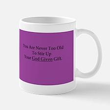 God Given Gift Purple Mugs