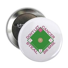 """Don't Let Cancer Steal 2nd Base 2.25"""" Button"""