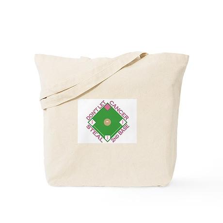 Don't Let Cancer Steal 2nd Base Tote Bag