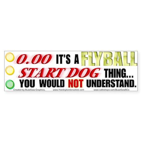 Flyball Start Dog Thing Bumper Sticker