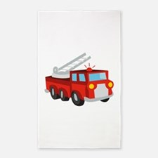 Fire Truck 3'x5' Area Rug