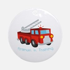 Fireman In Training Ornament (Round)