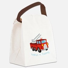 Fireman In Training Canvas Lunch Bag