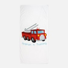 Fireman In Training Beach Towel