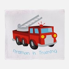 Fireman In Training Throw Blanket