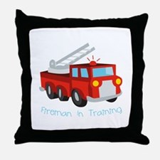 Fireman In Training Throw Pillow