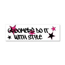 Groomers Do It With Style Car Magnet 10 X 3