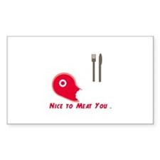 Nice To Meat You Decal
