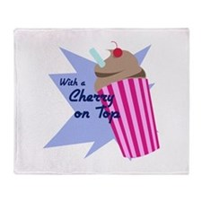 Cherry On Top Throw Blanket