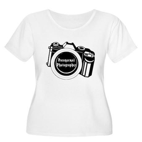 Camera Design Women's Plus Size Scoop Neck T-Shirt