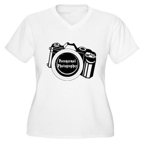 Camera Design Women's Plus Size V-Neck T-Shirt