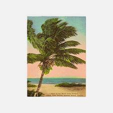 Vintage Florida Palm Tree 5'x7'area Rug
