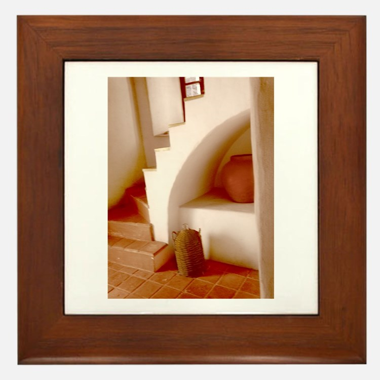 Sepia Southwest Steps Framed Tile