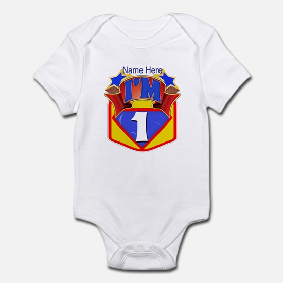 Superhero 1st Birthday Infant Body Suit