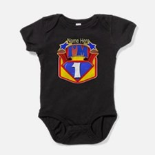 Superhero 1st Birthday Baby Bodysuit