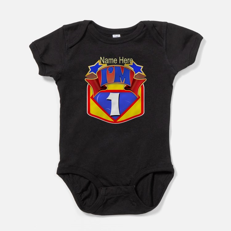 Superhero 1st Birthday Baby Bodysuit