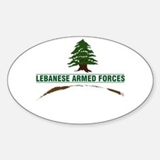 Lebanese Armed Forces Oval Decal