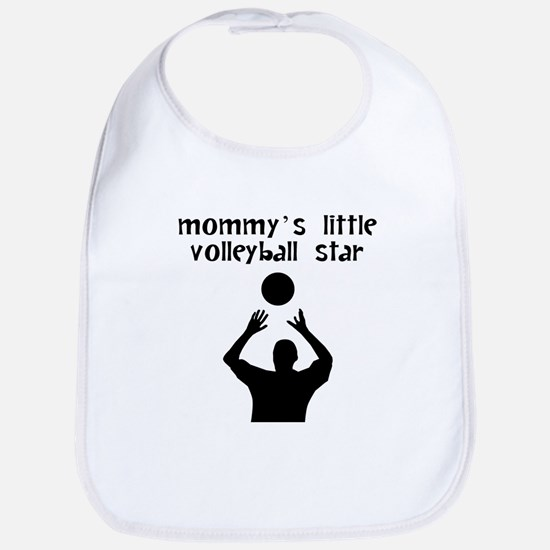 Mommys Little Volleyball Star Bib