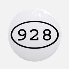 928 Oval Ornament (Round)