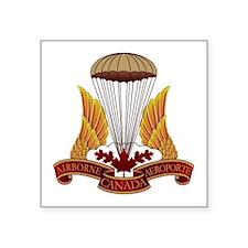 """Cute Canadian airborne Square Sticker 3"""" x 3"""""""
