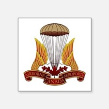"Cute Canadian airborne Square Sticker 3"" x 3"""