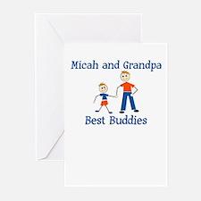 Micah & Grandpa - Best Buddie Greeting Cards (Pack