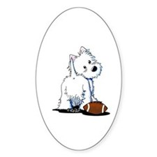 Tailgating Westie Decal