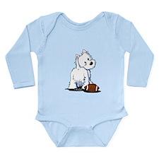Tailgating Westie Long Sleeve Infant Bodysuit