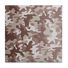 Camouflage desert Tile Coaster