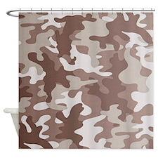 Camouflage desert Shower Curtain